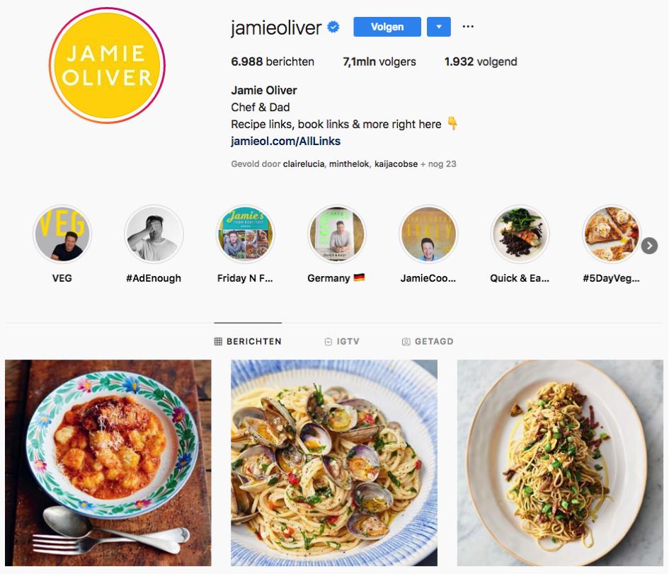 Instagram Jamie Oliver